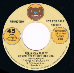 Never Felt Love Before Felix Cavaliere Bearsville Demo